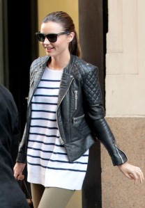 miranda kerr leather jacket 2